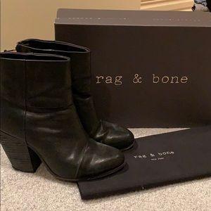 rag & bone black classic newbury booties